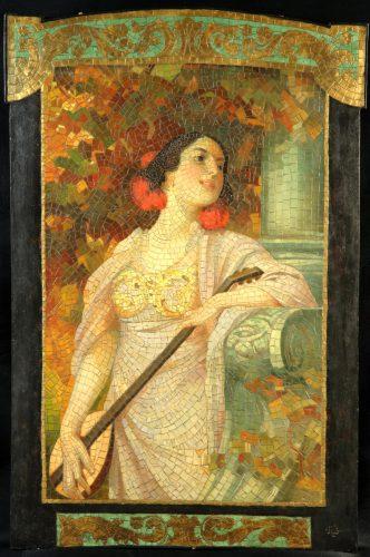 1156 Goldscheider Alois Hans Schram Wiener Secession Mosaik