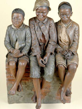 1190 Friedrich Goldscheider Three Boys