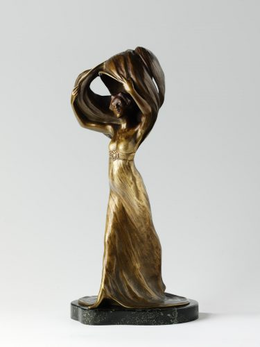 Arthur Goldscheider Gottfrid Julius Andreas Larsson Bronze Lamp