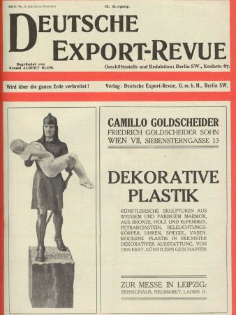 Camillo Goldscheider Deutsche Export Revue 1910