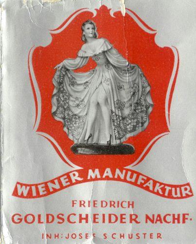 Goldscheider Nachfolger Josef Schuster Katalog