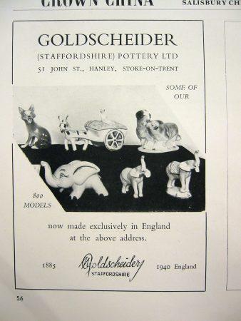 Marcel Goldscheider Staffordshire Ad 1940