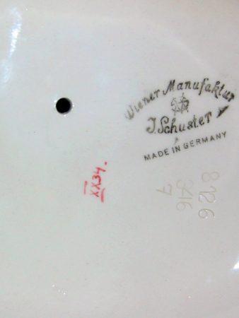 Wiener Manufaktur Josef Schuster Goldscheider Stempel